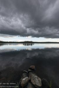 Mørk sky over Sorksjøen