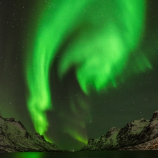 Nordlys, Ersfjordbotn i Troms