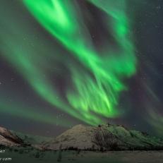 Nordlys, Ersfjordbotn i Troms