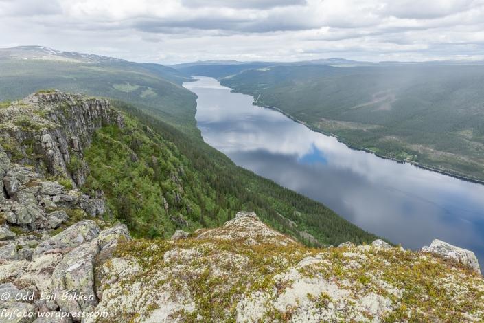Utsikt nordover Engersjøen.