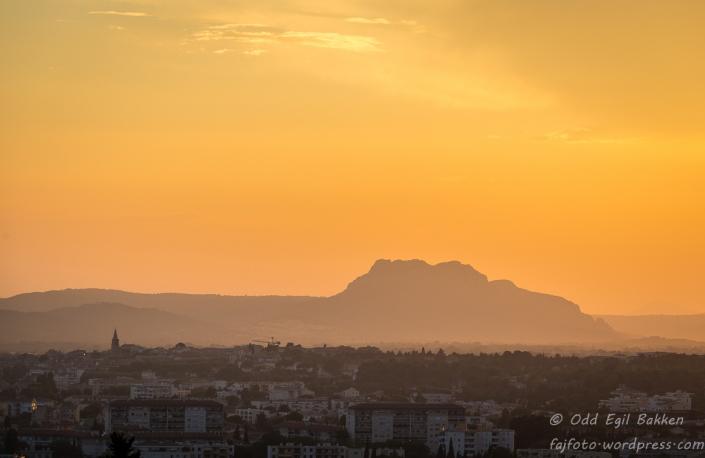 Kveldsstemning mot Frejus og Roquebrune